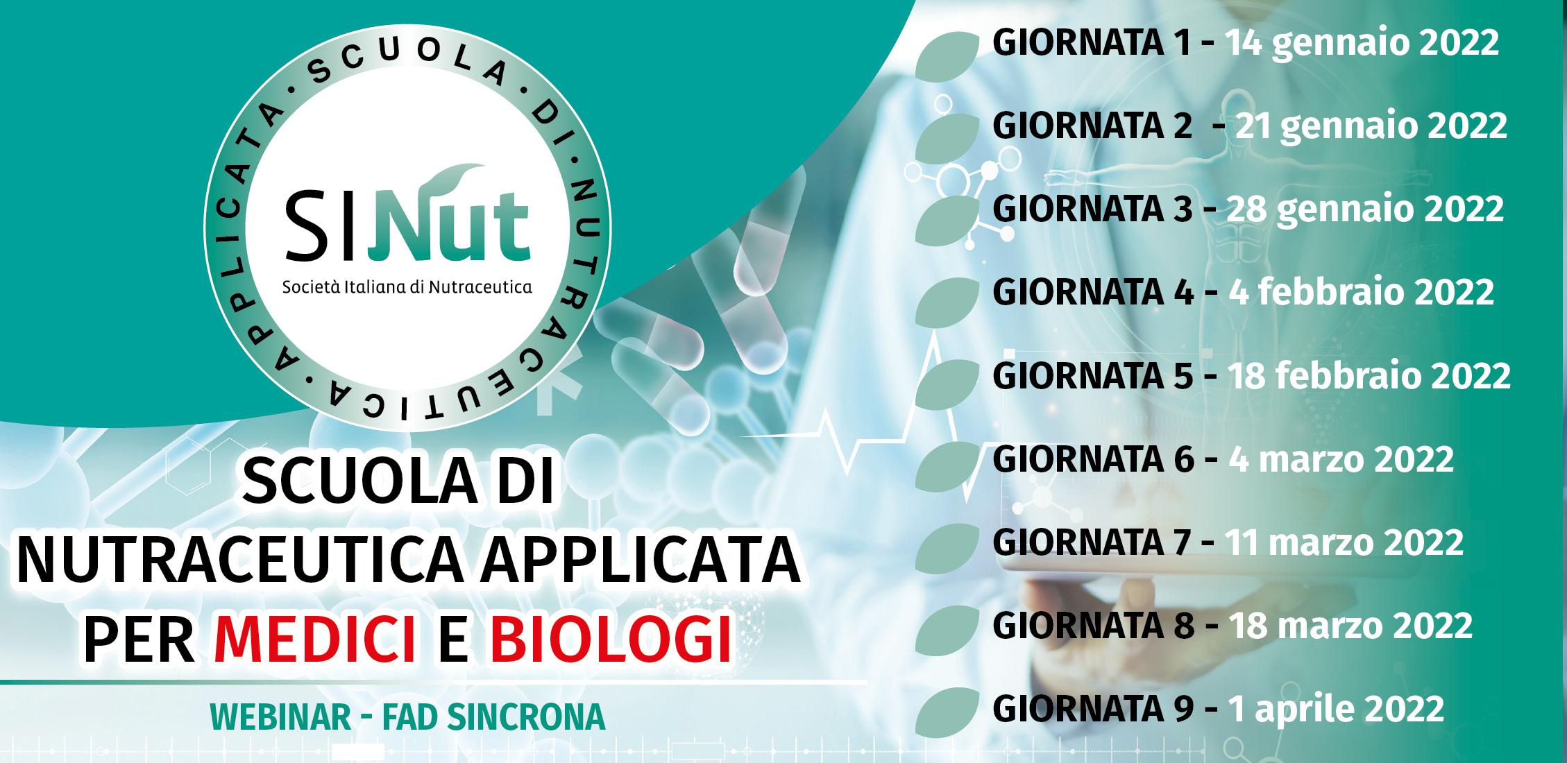 Scuola di Nutraceutica Applicata per MEDICI e BIOLOGI
